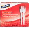 Heavyweight White Plastic Forks