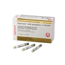Septocaine w/ Epinephrine Articaine Hydrochloride 4%